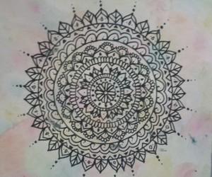 dibujo, draw, and mandala image