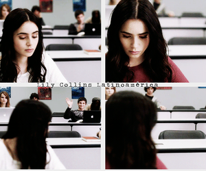 lily collins and stuck in love image