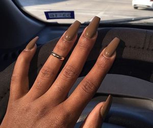 nails, makeup, and brown image