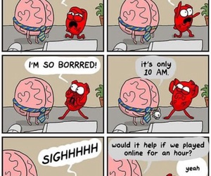 brain, heart, and funny image