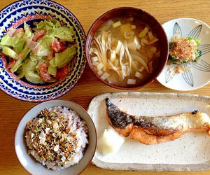 breakfast, food, and japanese food image