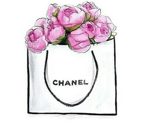 chanel, rose, and bag image
