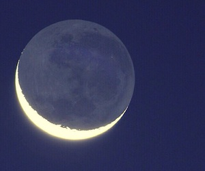 blue, crescent, and moon image