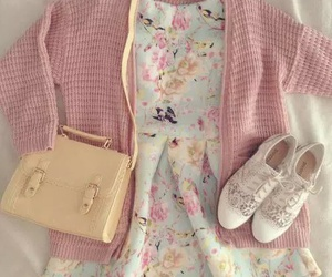 outfit, pink, and shoes image