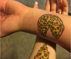 food, pizza, and tatoo image