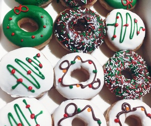 christmas, colors, and donuts image