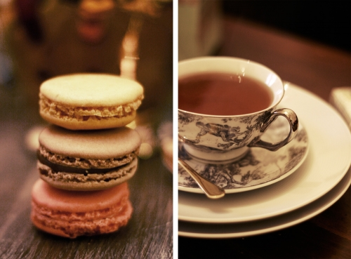 Cookies, macaron, and cup image