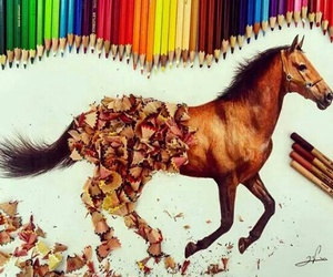 drawing, horse, and art image