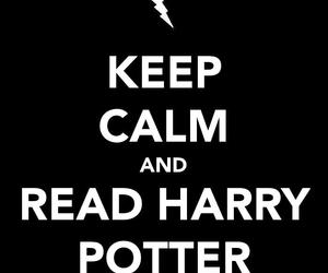harry potter, text, and keep calm image