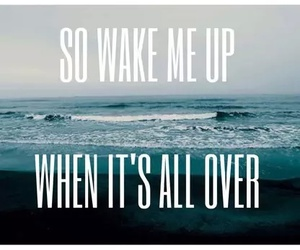 wake me up, quote, and song image