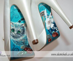 alice in wonderland, Cheshire cat, and white rabbit image