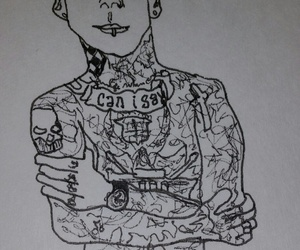 art, doodle, and tatted image