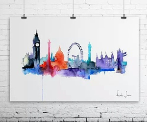 art, london, and drawing image
