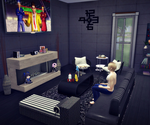 black, decoration, and sims image