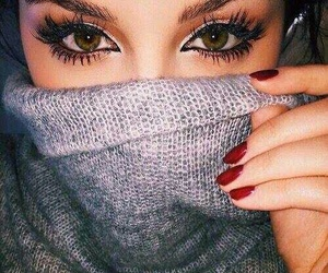 eyes, makeup, and nails image