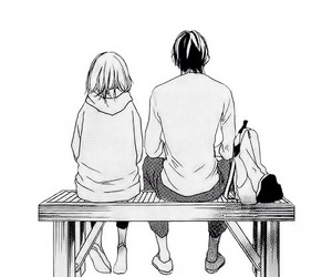 strobe edge, couple, and manga image