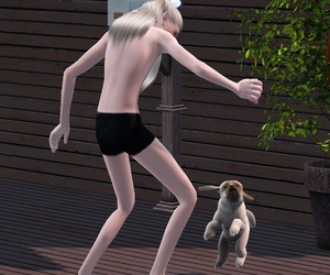 blonde, ts3, and dog image