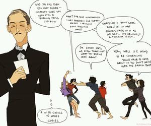 batgirl, batman, and comic image