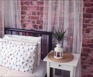 bed, decor, and decoration image