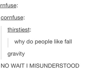fall, funny, and gravity image