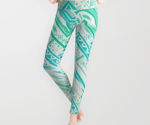 ethnic, green, and leggings image