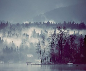 lake, winter, and fog image