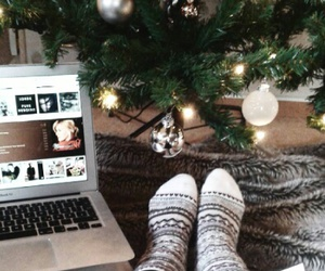 book, christmas, and macbook image