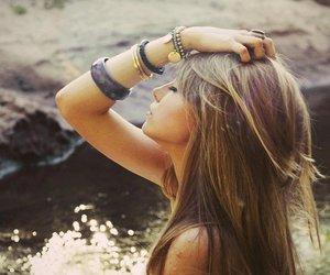 girl, hair, and bracelet image