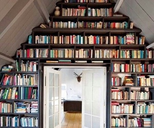 book, library, and room image