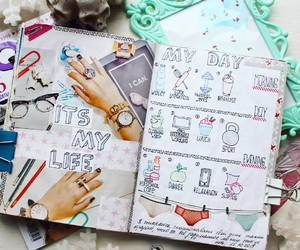 diary, journals, and note image