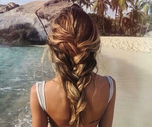 beach and hair image