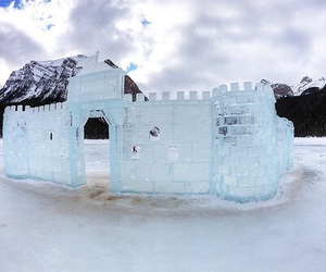 snow, ice, and castle image