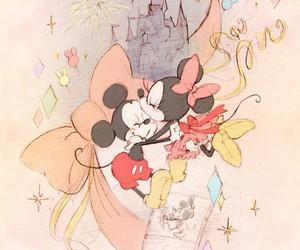 disney, minnie, and mickey image