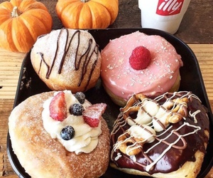 food, dessert, and donuts image