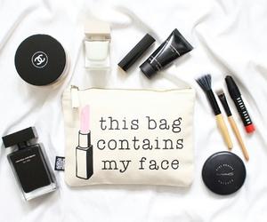 makeup, bag, and chanel image