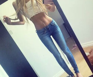 skinny, style, and jeans image
