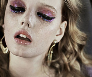 glitter, makeup, and model image