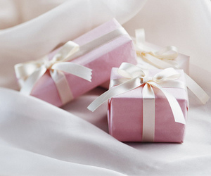 pink, gift, and present image