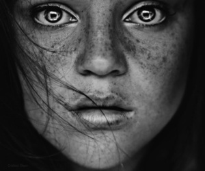 girl, eyes, and black and white image