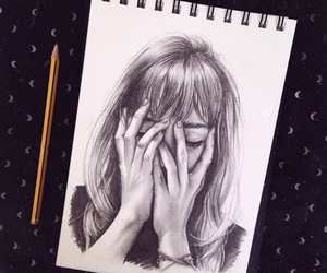 art, crying, and draw image