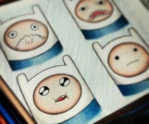 drawing, finn, and adventure time image