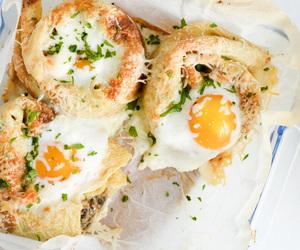 crepe, eggs, and mushroom image