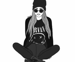 nirvana, outline, and black image