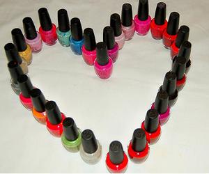 heart, nail polish, and opi image