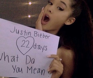 ariana grande, justin bieber, and what do you mean image