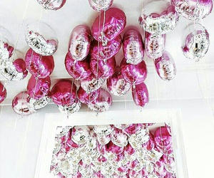 ballons, mirror, and beautiful image