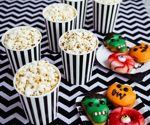 food, Halloween, and popcorn image
