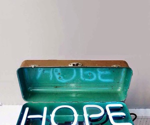 hope, light, and neon image