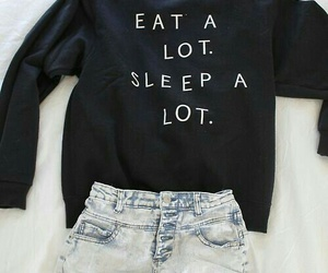 eat, outfit, and sleep image