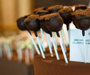 chocolate, photography, and cake pops image